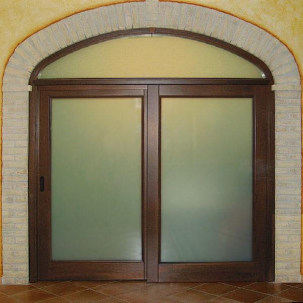 Porta scorrevole con sopraluce falegnameria cau - Dettaglio porta scorrevole ...