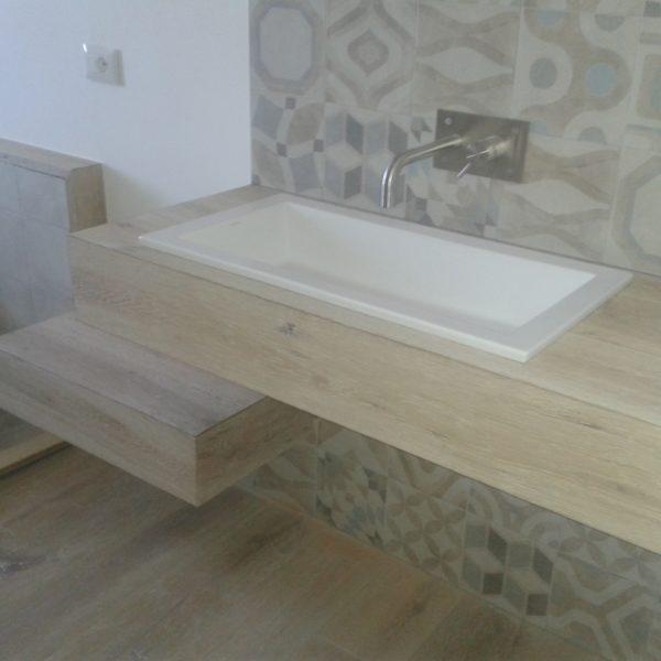 Mobile bagno in rovere